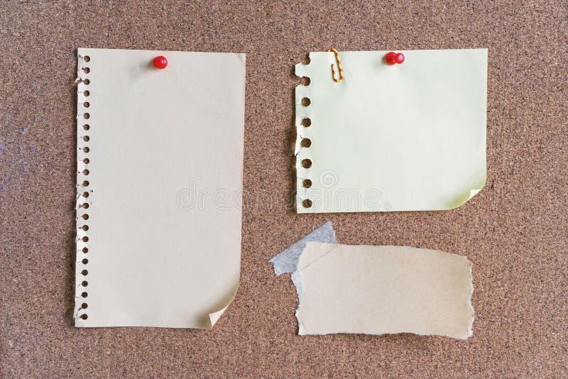 稠粘的笔记和备忘录 免版税库存照片