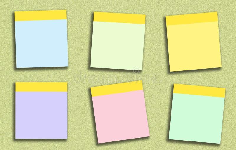 稠粘的笔记许多上色 库存例证