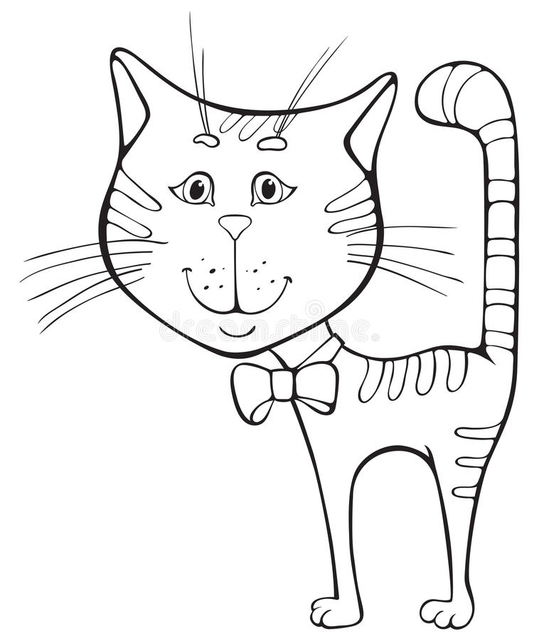 滑稽动画片的猫 库存例证