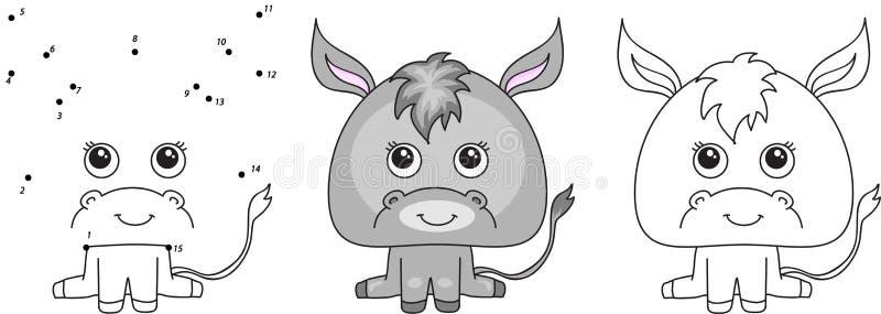 滑稽和逗人喜爱的驴 皇族释放例证