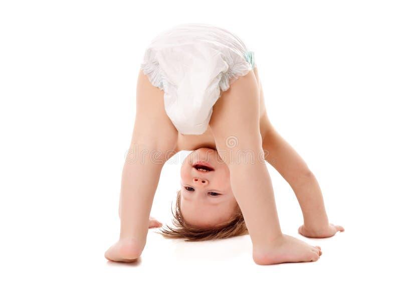 滑稽的使用的婴孩 库存图片