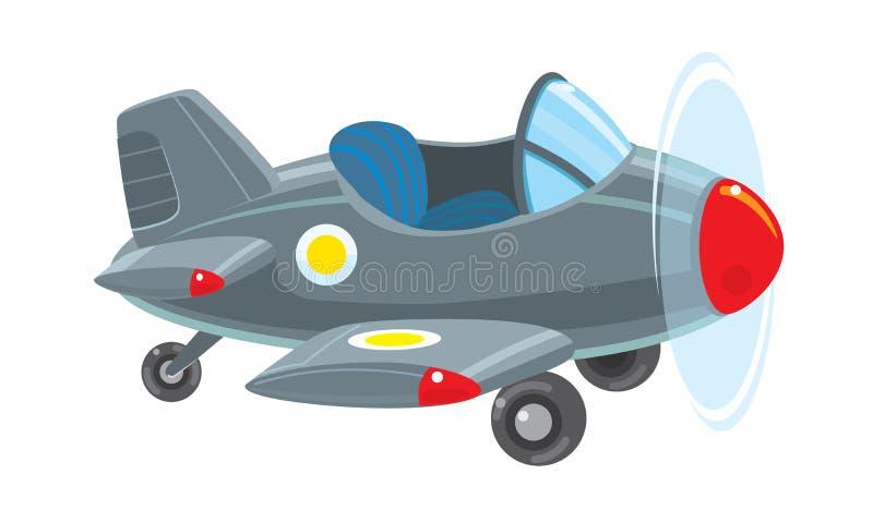 滑稽的减速火箭的飞机 皇族释放例证
