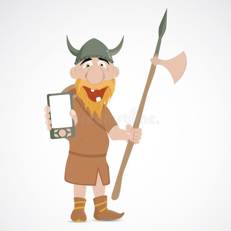 滑稽的动画片北欧海盗 向量例证