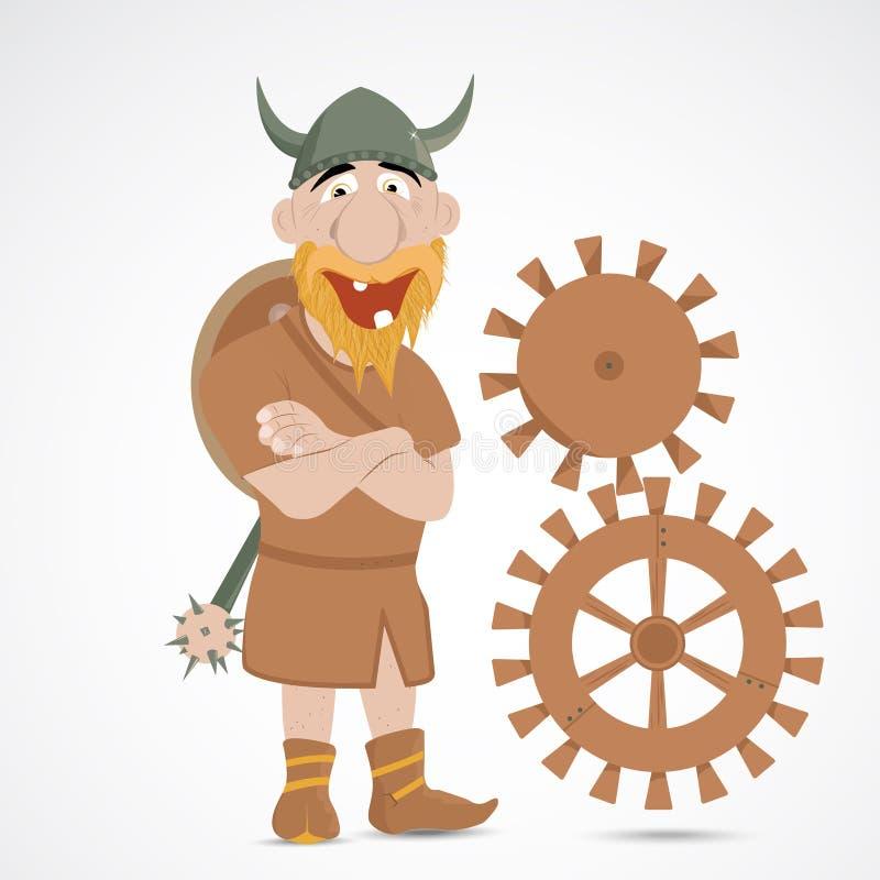 滑稽的动画片北欧海盗 库存例证