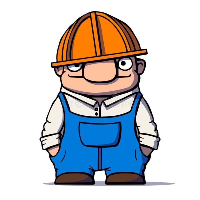 滑稽的动画片工作者,建造者,水管工 也corel凹道例证向量 向量例证