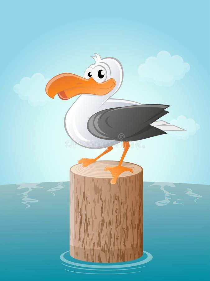 滑稽的动画片海鸥 向量例证