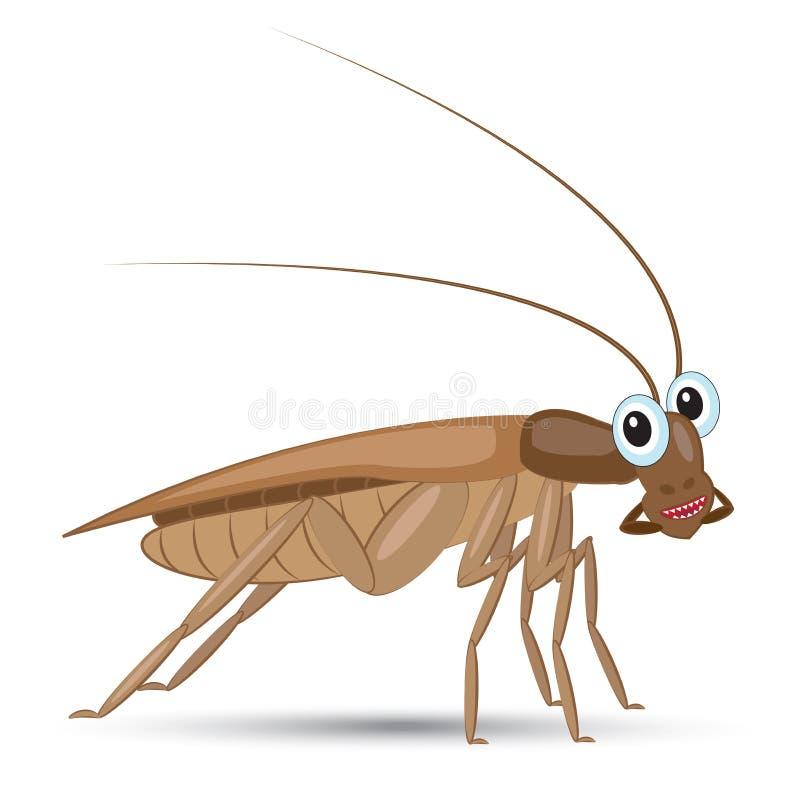 滑稽的动画片蟑螂 皇族释放例证