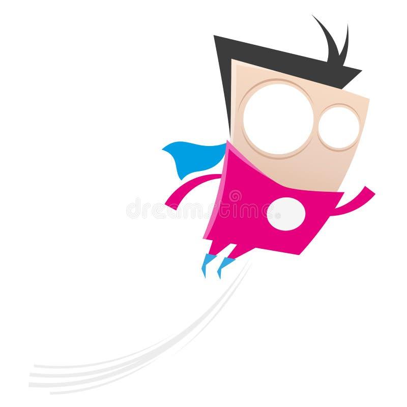 滑稽的动画片超级英雄 向量例证