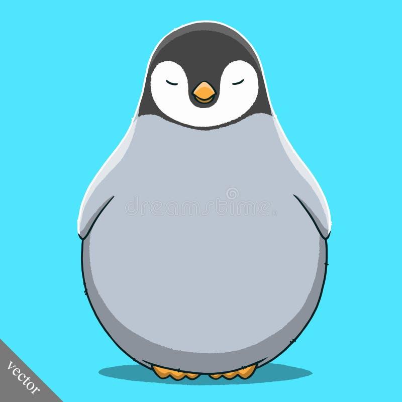 滑稽的动画片逗人喜爱的皇家企鹅例证 皇族释放例证