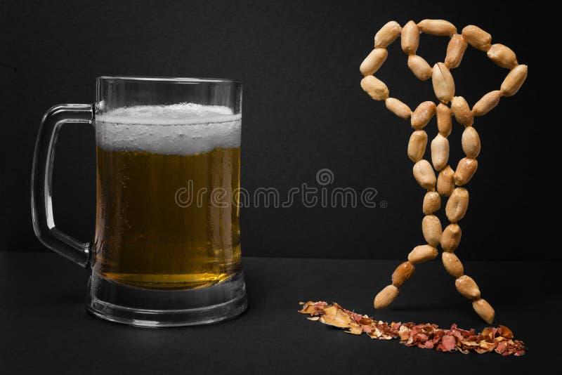 滑稽的啤酒 库存图片