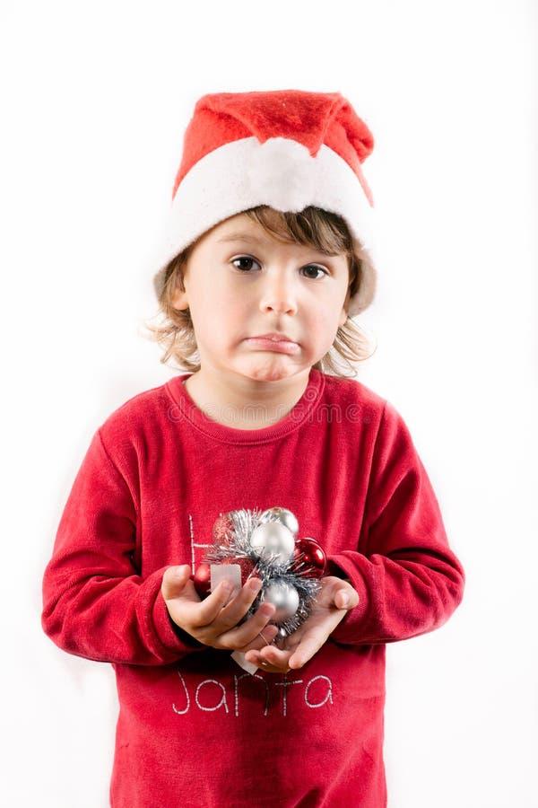 滑稽的圣诞老人辅助工 库存照片