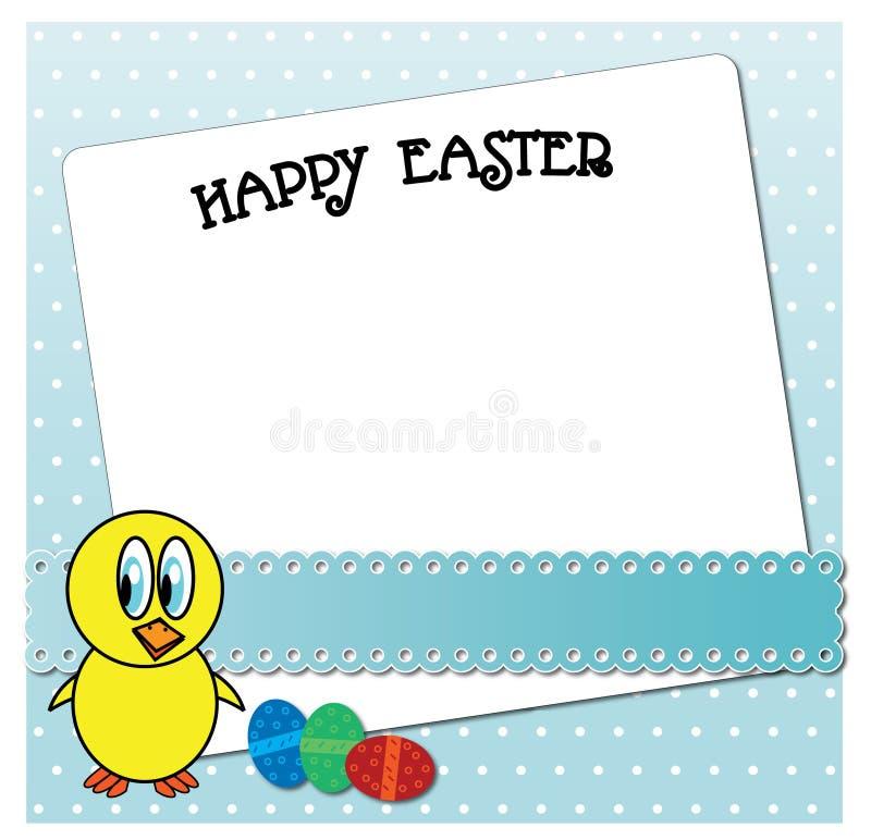 滑稽的复活节鸡卡片设计 库存例证