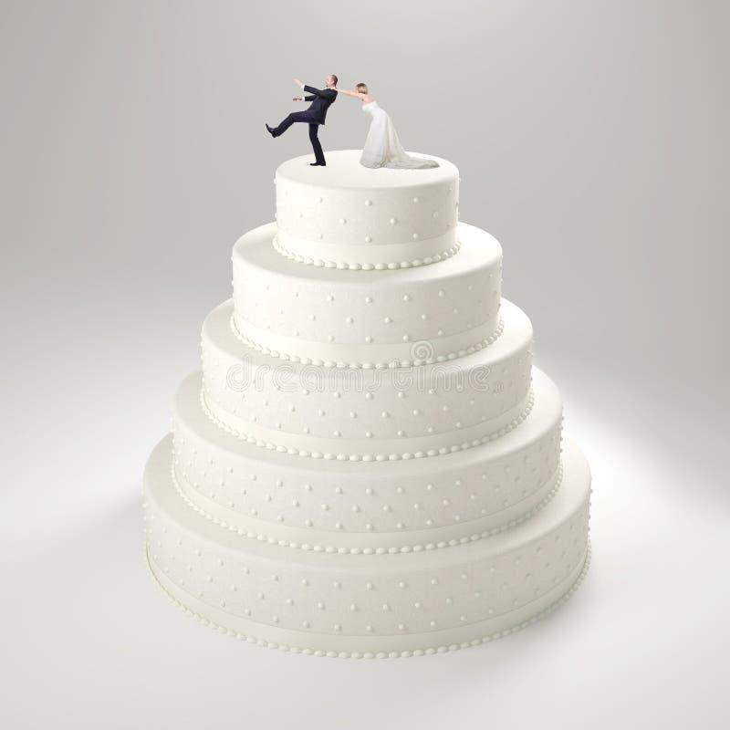 滑稽的婚宴喜饼 向量例证