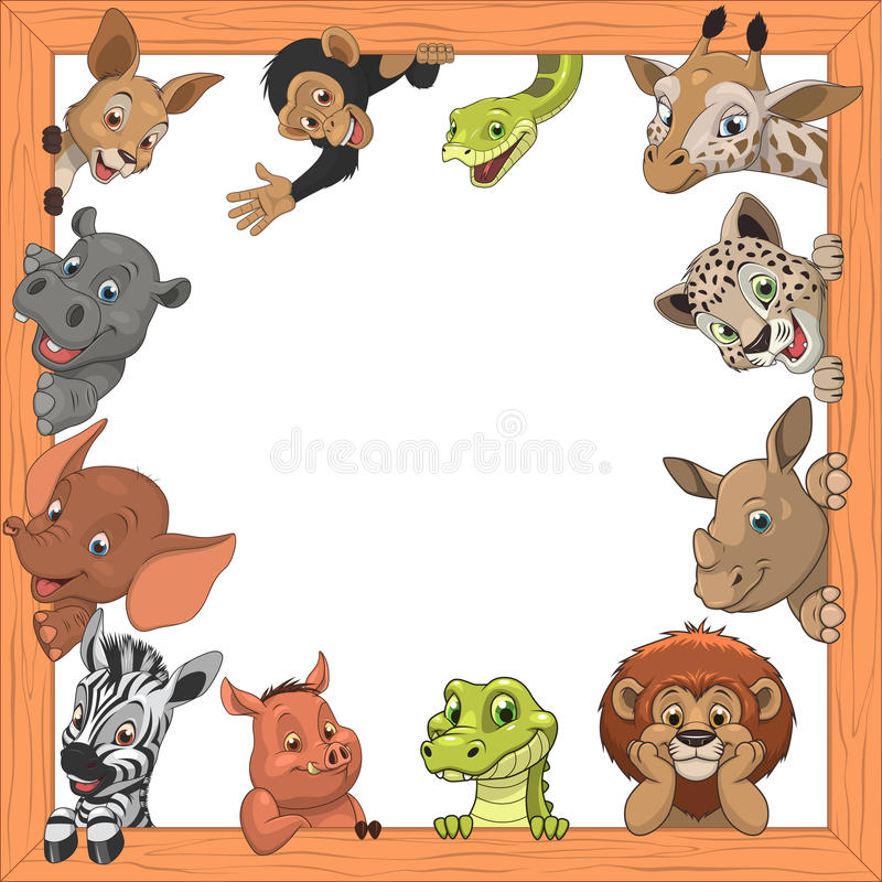 Download 滑稽的孩子动物 向量例证. 插画 包括有 豹子, python, 敌意, 框架, beautifuler - 62539530