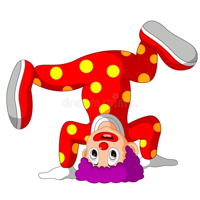 滑稽的小丑动画片 皇族释放例证