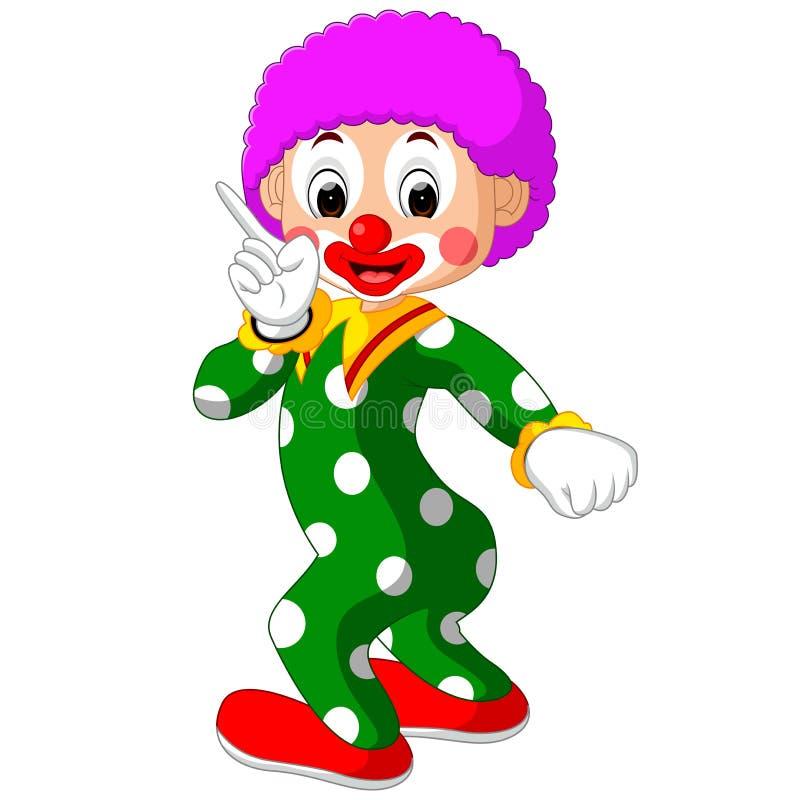滑稽的小丑动画片 向量例证