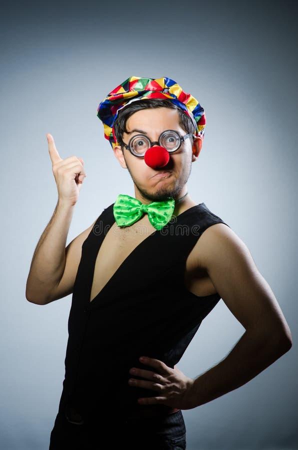 滑稽的小丑 免版税图库摄影