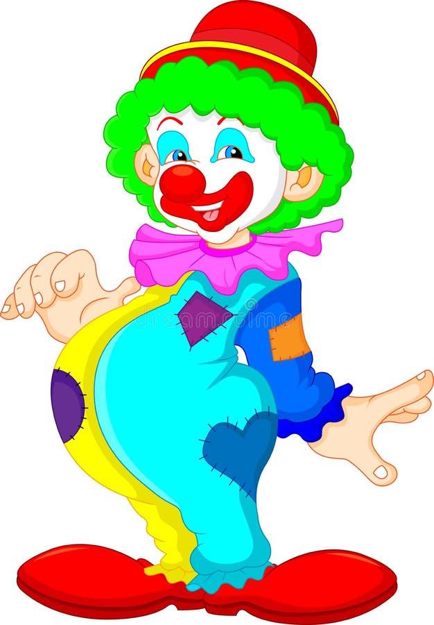 滑稽的小丑 库存例证