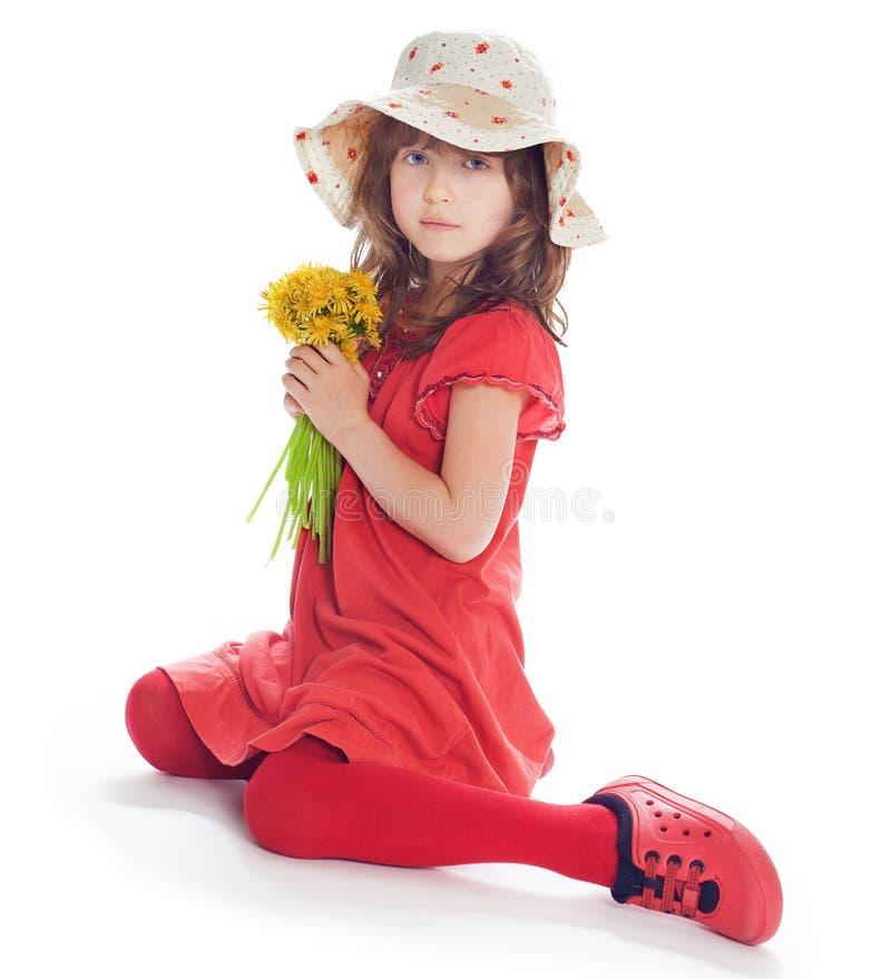滑稽的小女孩 库存照片