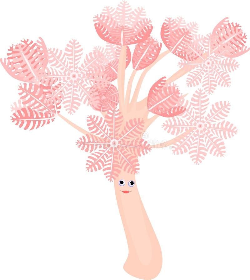 滑稽的抽的齐尼亚珊瑚 皇族释放例证