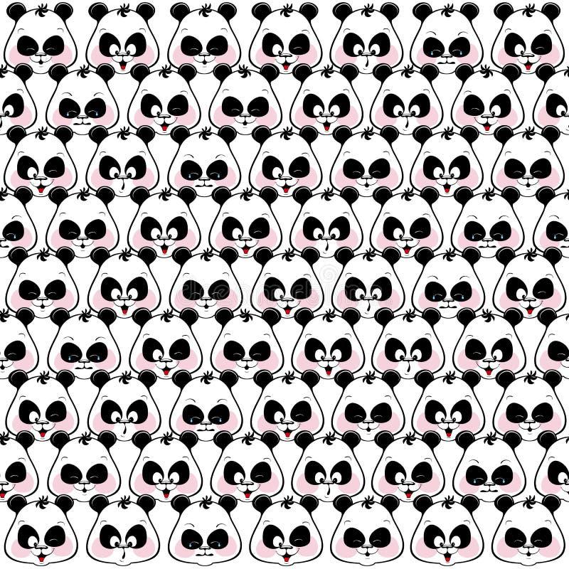 Download 滑稽的枪口熊猫的无缝的样式 向量例证. 插画 包括有 模式, 啼声, 许多, 喜悦, 概念, 可笑, 设计 - 59111236