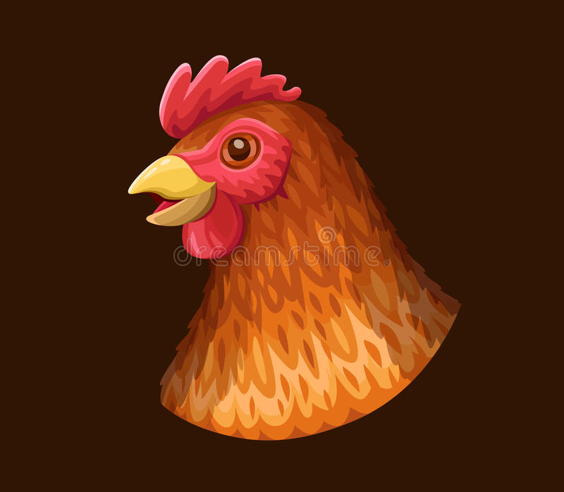 滑稽的母鸡象 向量例证