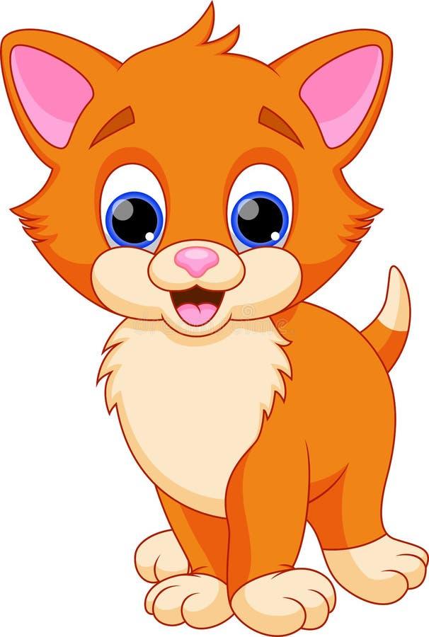 滑稽的猫动画片 向量例证