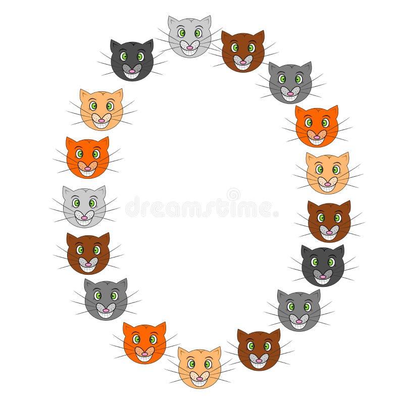 滑稽的猫框架 皇族释放例证
