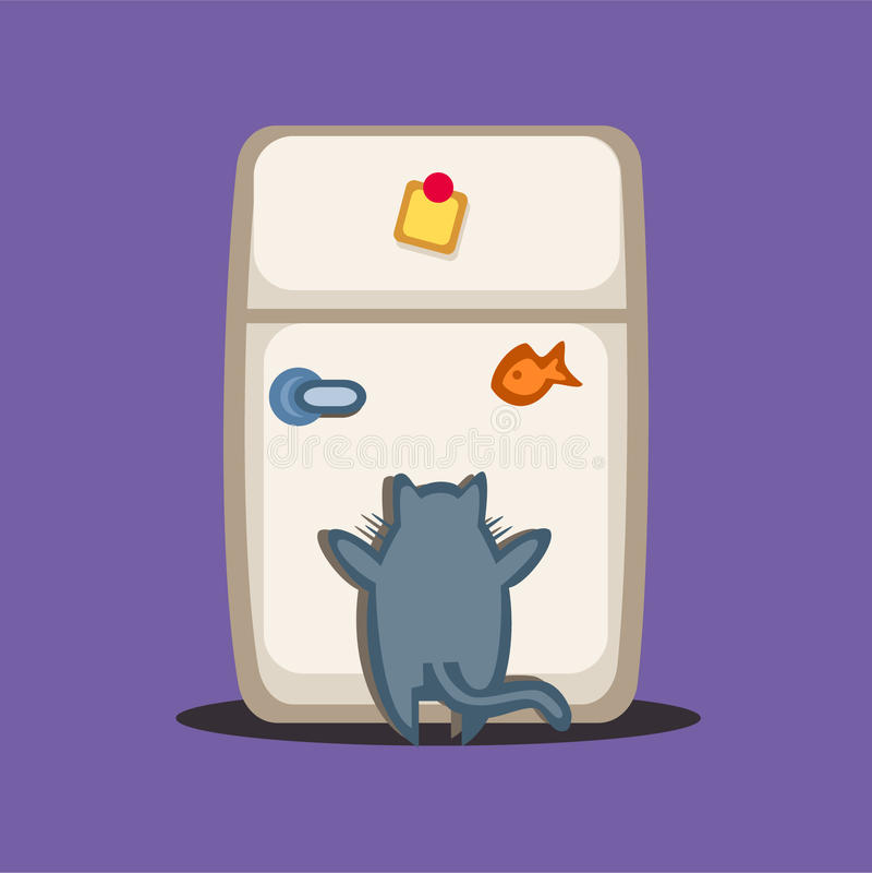 滑稽的猫 库存例证
