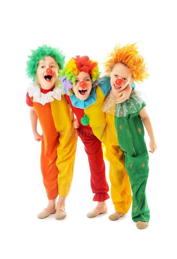 滑稽的矮小的小丑 库存照片
