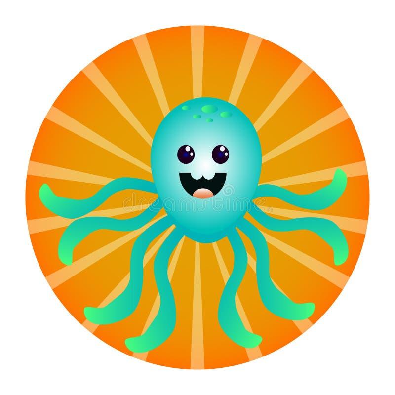 滑稽的章鱼 库存照片