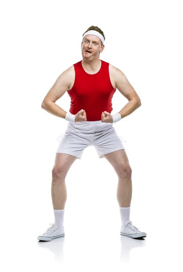 滑稽的笨拙的运动员 库存照片