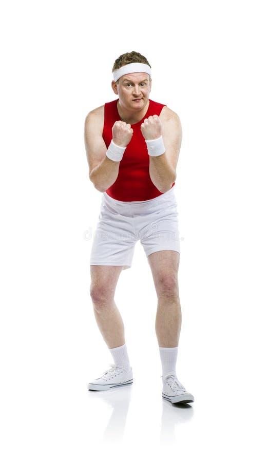 滑稽的笨拙的运动员 图库摄影