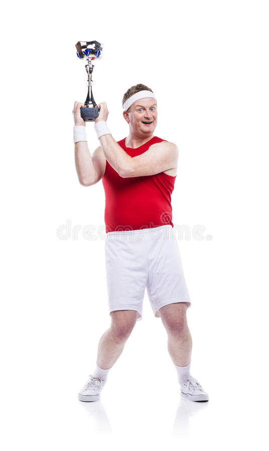滑稽的笨拙的运动员 免版税库存照片