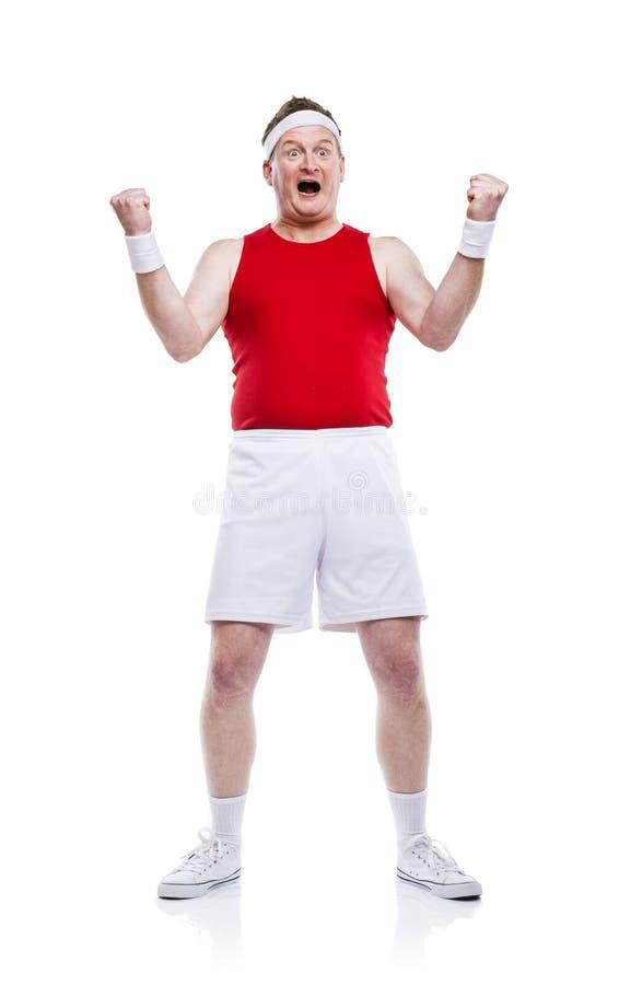 滑稽的笨拙的运动员 免版税库存图片