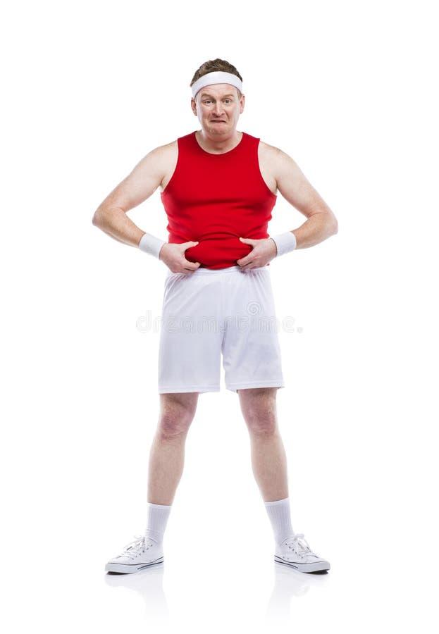 滑稽的笨拙的运动员 库存图片