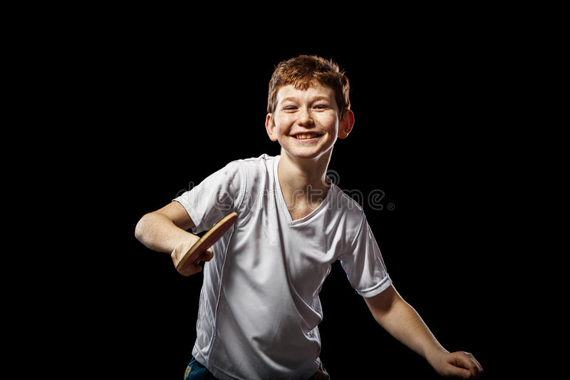 滑稽的红发男孩 免版税库存图片