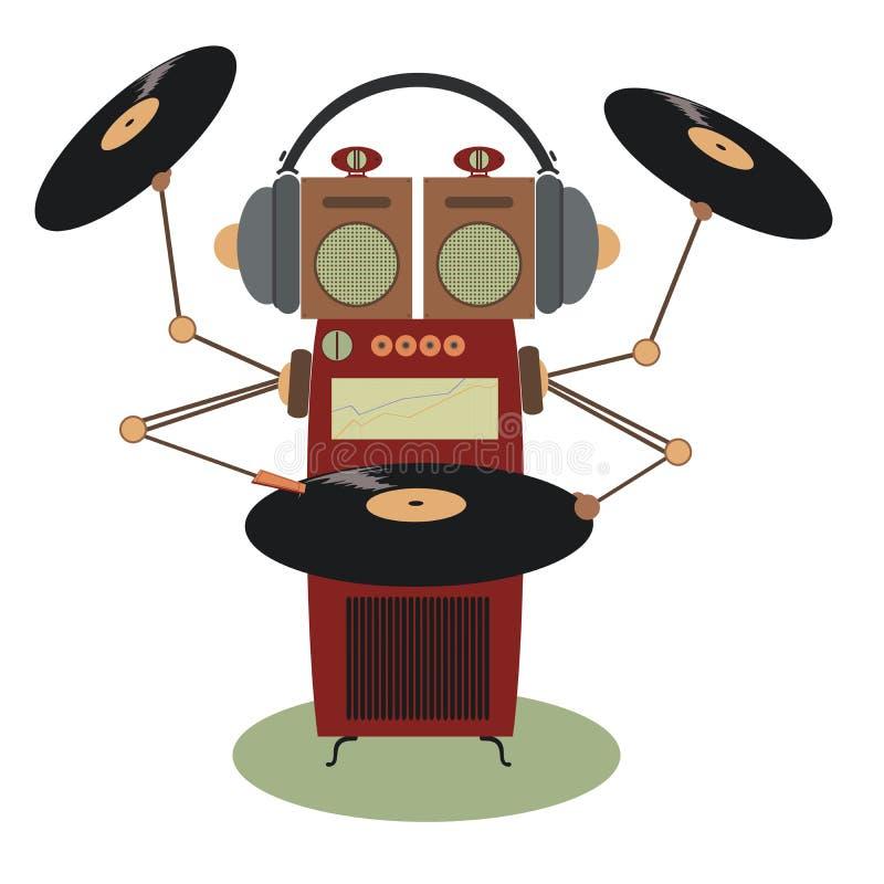 滑稽的自动电唱机 皇族释放例证