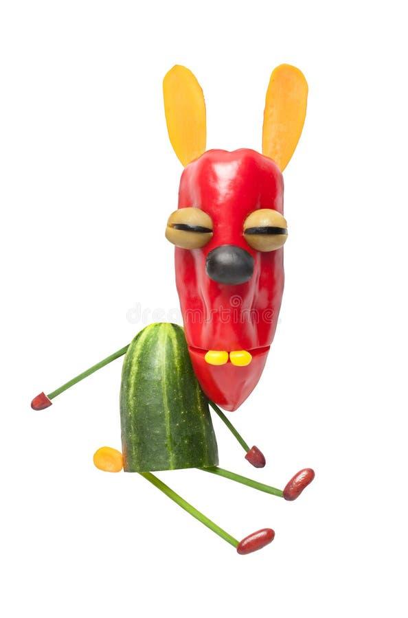 滑稽的菜兔子 库存图片