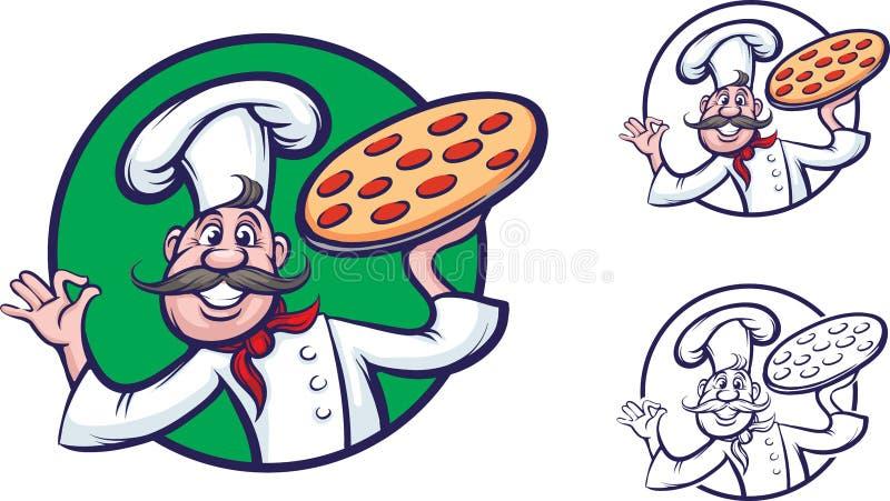 滑稽的薄饼主厨 皇族释放例证