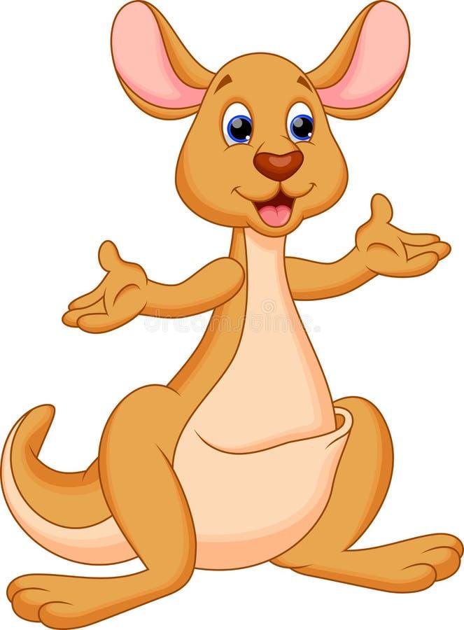 滑稽的袋鼠动画片 向量例证
