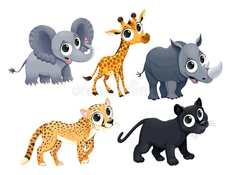 滑稽的非洲动物 向量例证