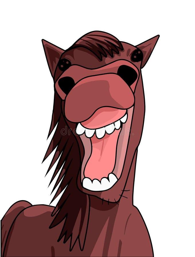 滑稽的马微笑 免版税库存图片