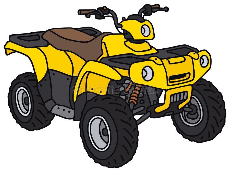 滑稽的黄色ATV 库存例证
