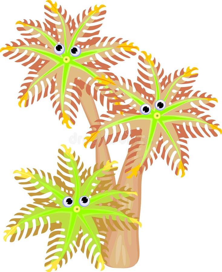 滑稽的Clavularia番木瓜 向量例证