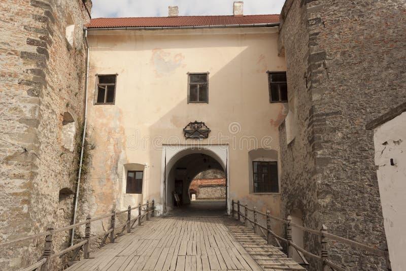 穆卡切沃城堡Palanok 穆卡切沃历史博物馆 免版税图库摄影