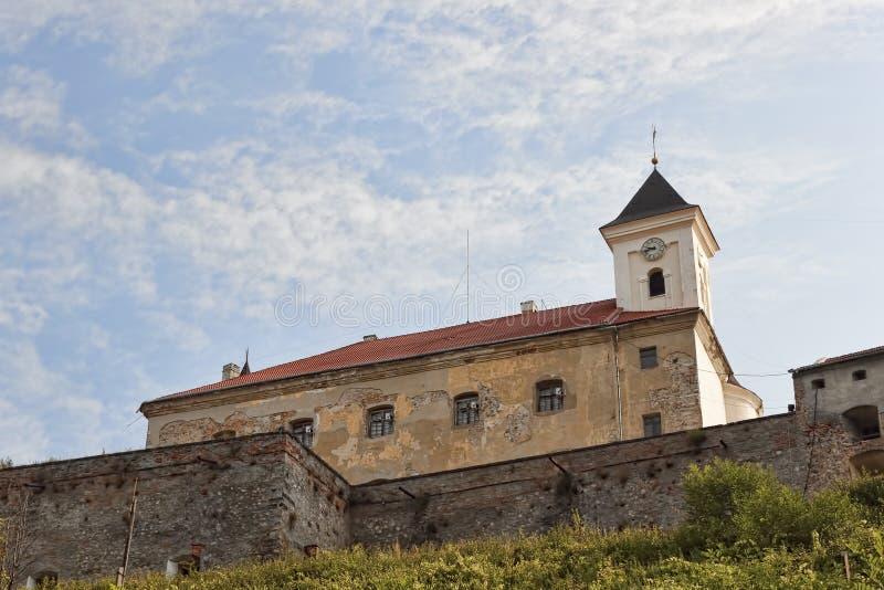 穆卡切沃城堡Palanok 穆卡切沃历史博物馆 免版税库存图片