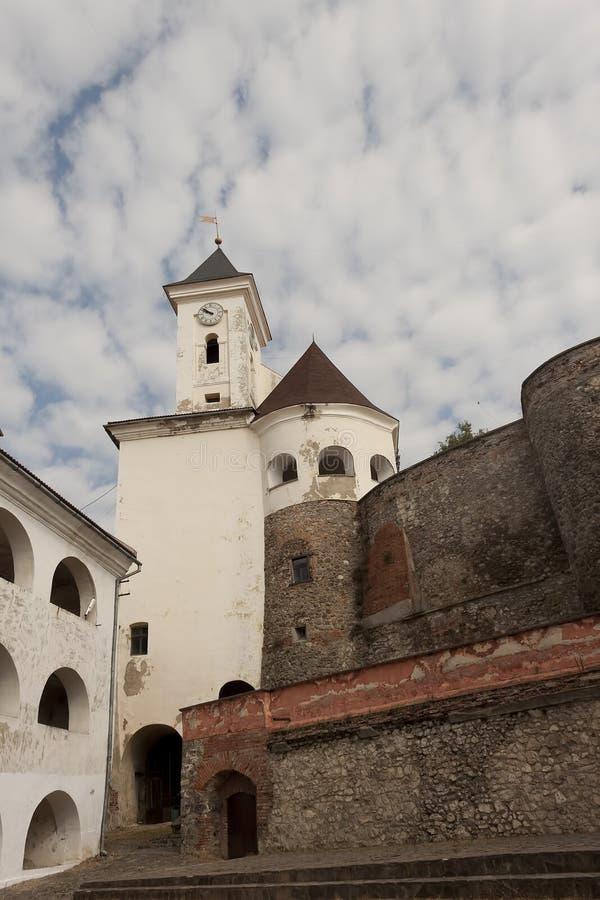 穆卡切沃城堡Palanok 穆卡切沃历史博物馆 免版税库存照片