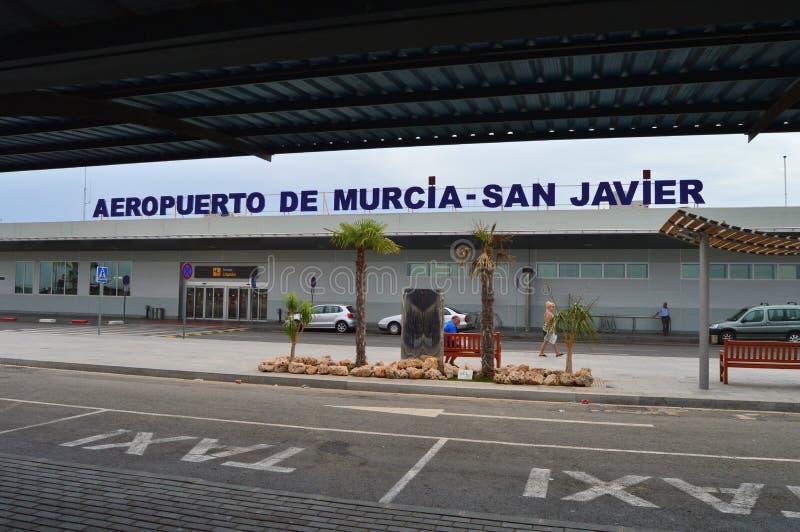 穆尔西亚圣哈维尔机场在西班牙 库存照片