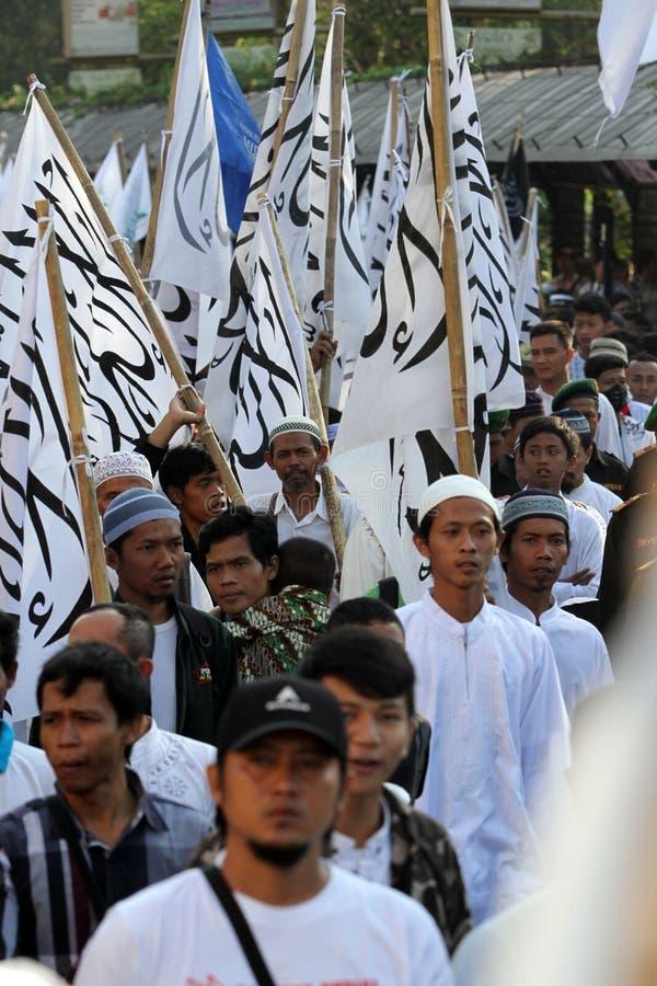 穆斯林游行 免版税库存图片